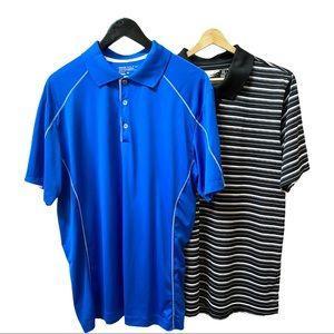Nike and Oakley Golf Shirts Sz L EUC